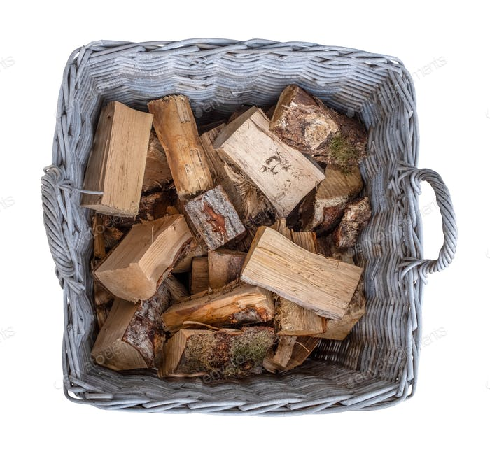 Basket Of Split Fire Wood