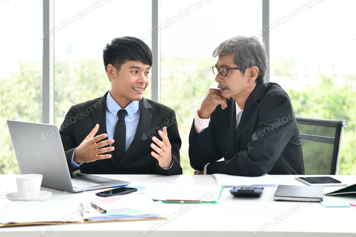 Businessman Senior,Junior