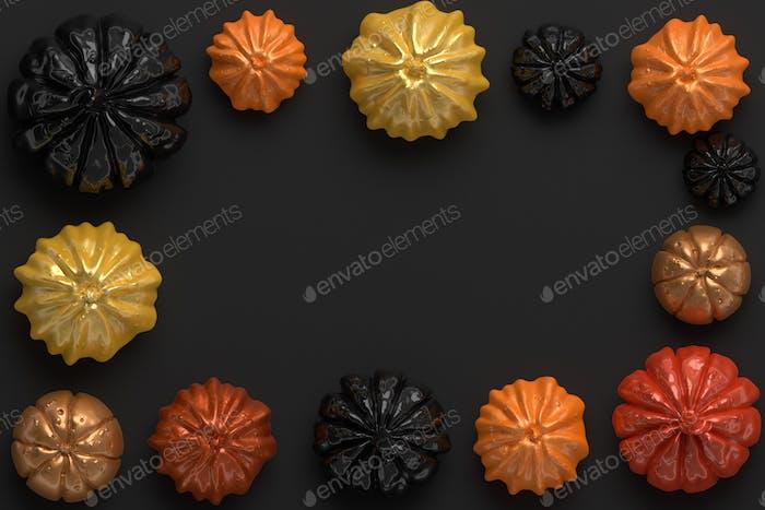 3d rendering of Halloween pumpkins
