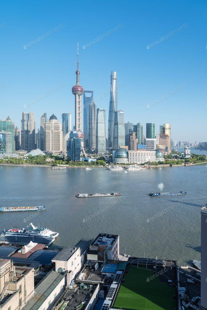 Luftaufnahme von Shanghai Stadtbild