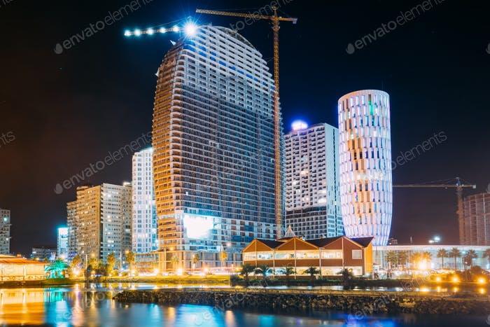 Batumi, Adjara, Georgia. Construction And Development Of Modern