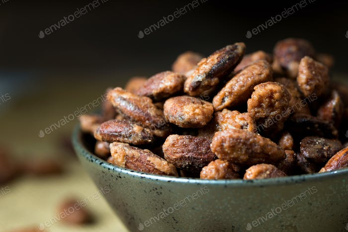 Sugar coated roast almond