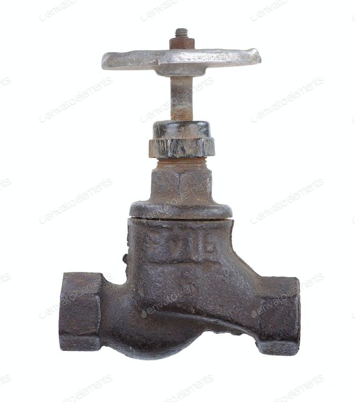 Alte rostige Wasserhahn