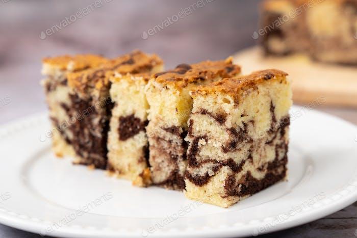 Marble chocolate pound cake