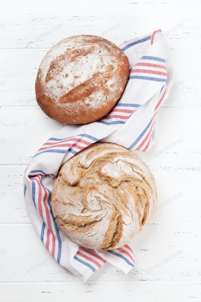 Homemade crusty bread