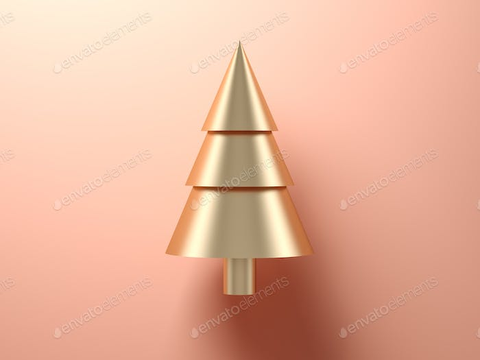 Abstract christmas tree on pink background