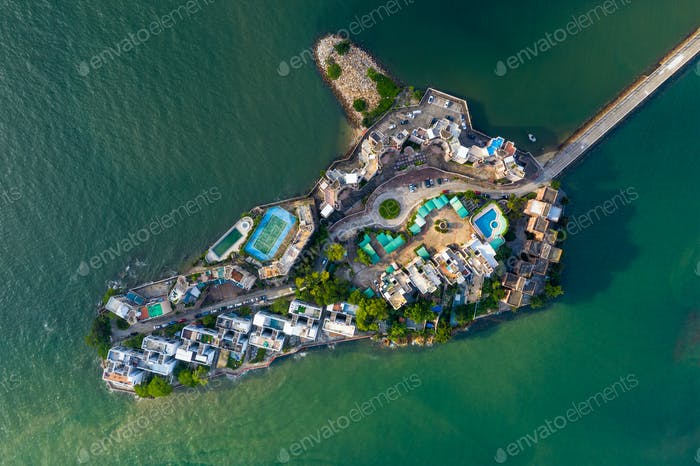Tuen Mun, Hong Kong 16. Mai 2019: Luftaufnahme von Hong Kong Wohnviertel