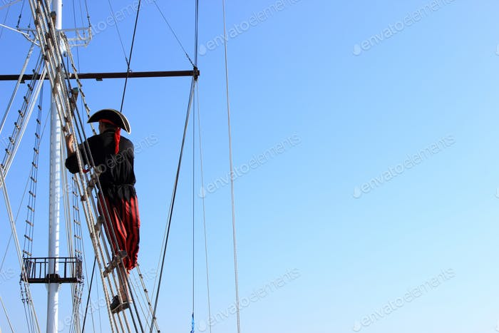 Pirate on ship