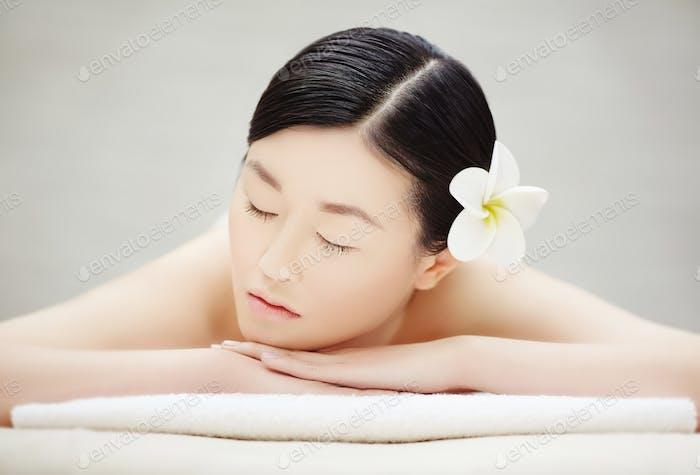 Relaxed girl