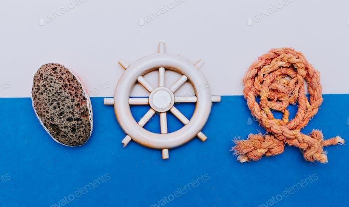 Sea Ocean set. Travel. Minimal art design