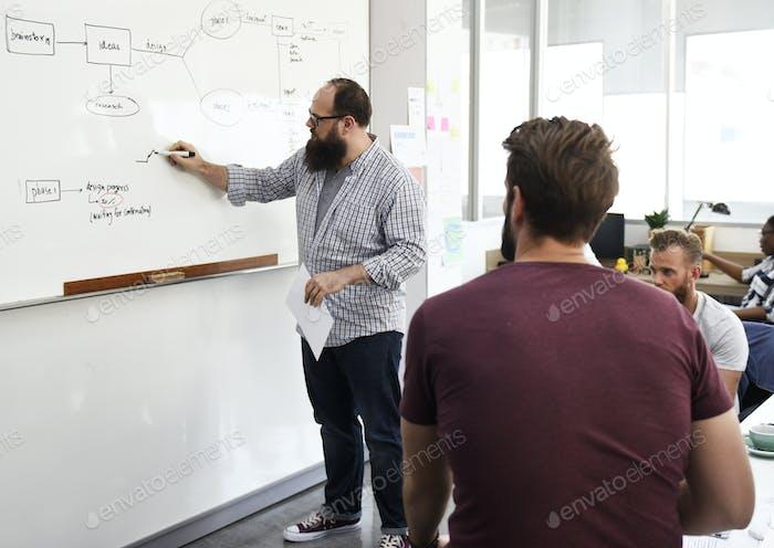 Startup-Geschäftsleute, die ein Meeting haben