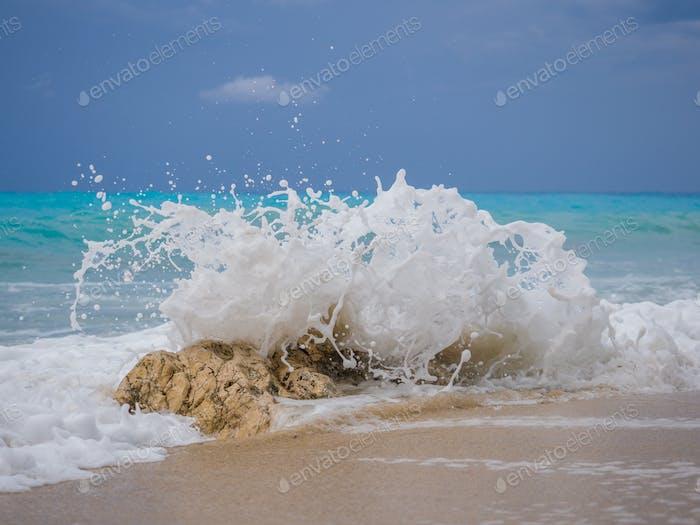 Kathisma beach in Lefkada Greece