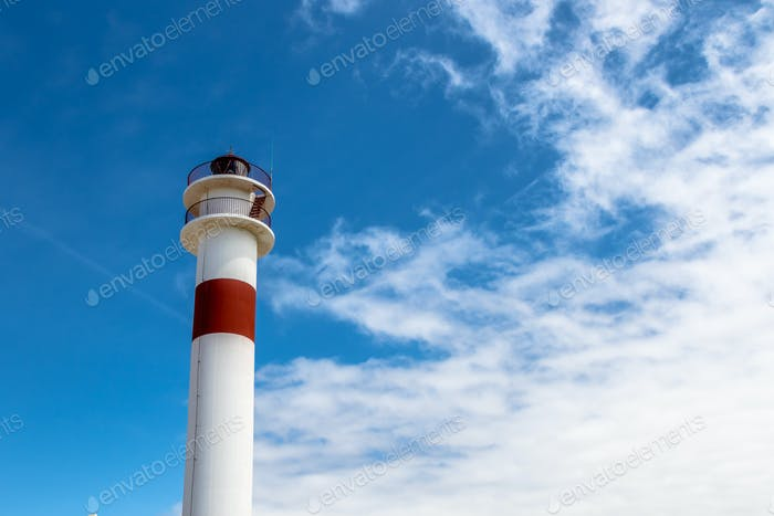 Lighthouse in  Rota, Cadiz, Spain