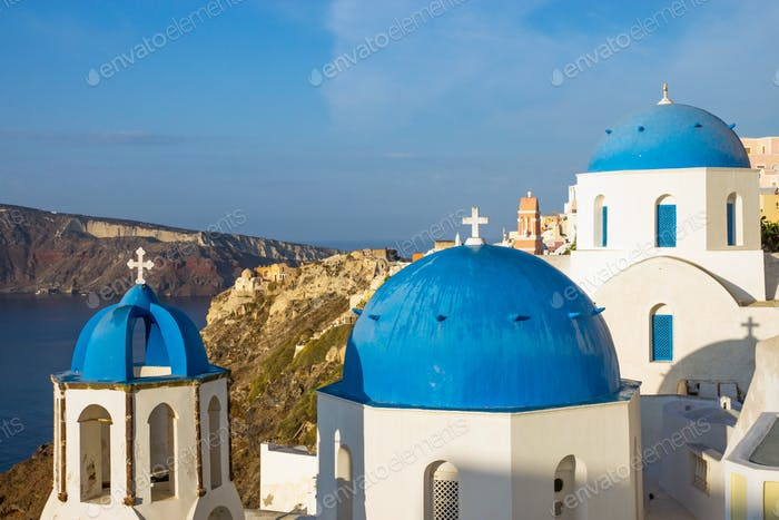 The blue churches of Oia