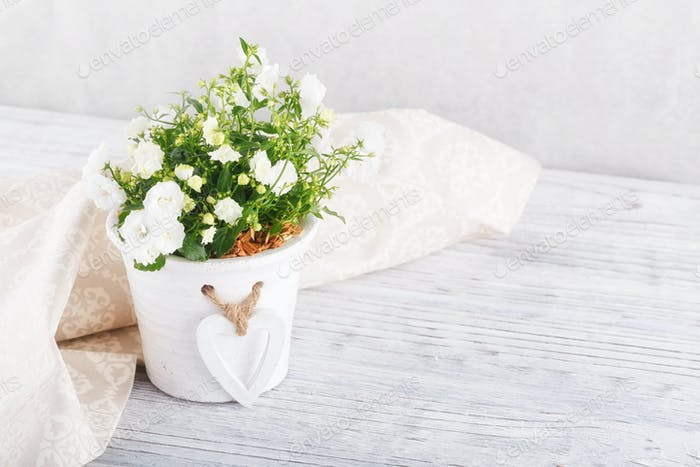 flowers and napkin on a table