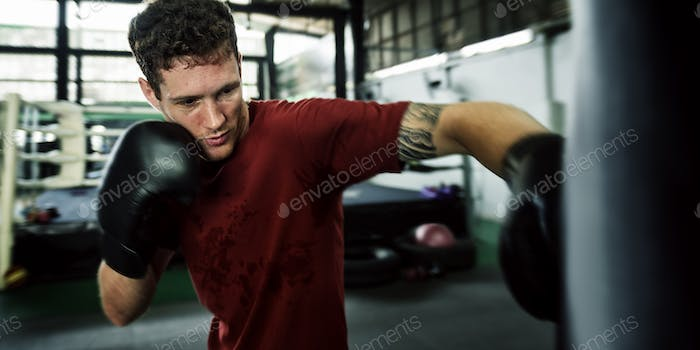 Man Exercise Athletic Boxing Concept