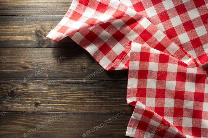 cloth napkin on wood