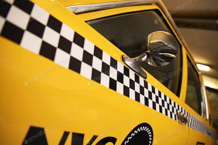 Yellow Taxi Cab Closeup