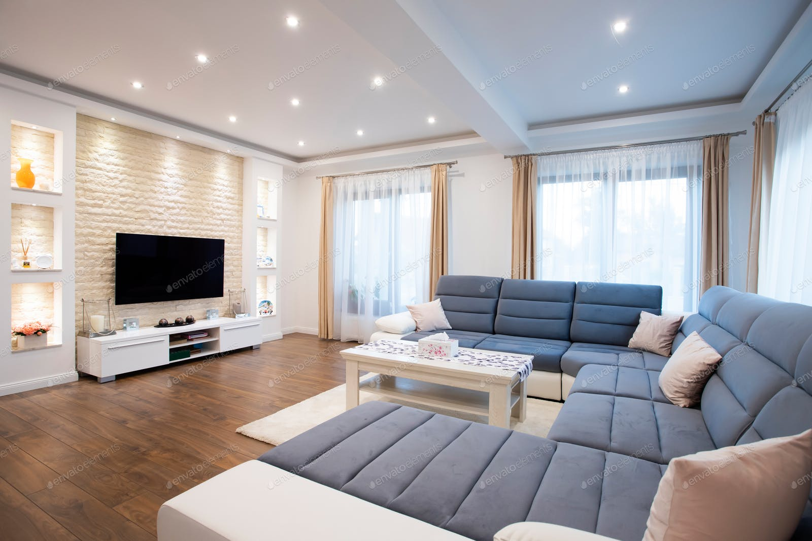 Interior Of A Rich House Cozy Living Room Photo By Erika8213 On Envato Elements