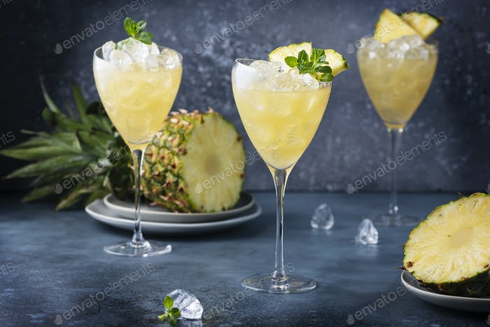 cocktail with pineapple