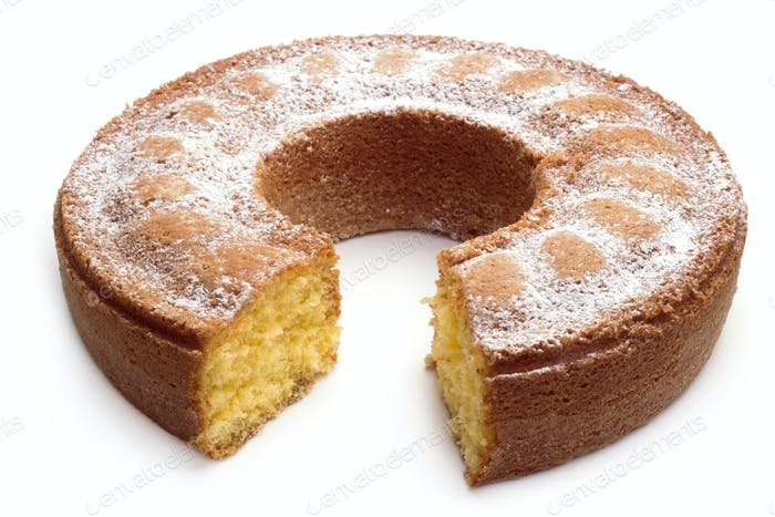 yoghurt cake with icing sugar