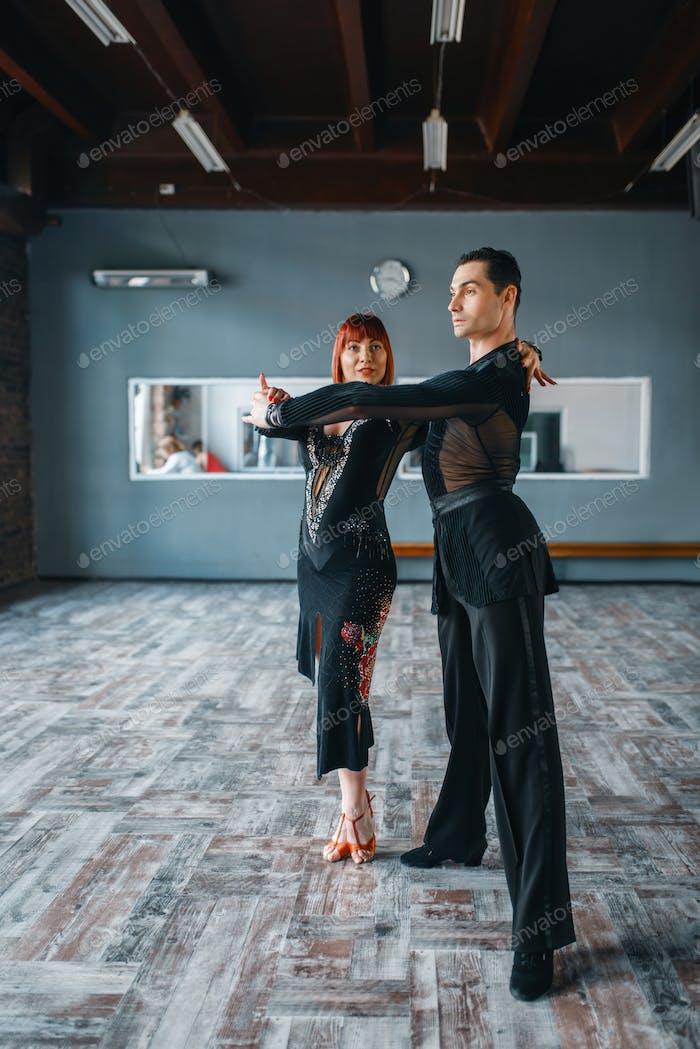 Zwei Elegance Tänzer, Ballrom Tanztraining