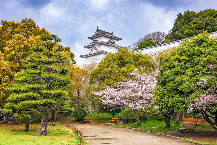 Akashi Castle in Spring