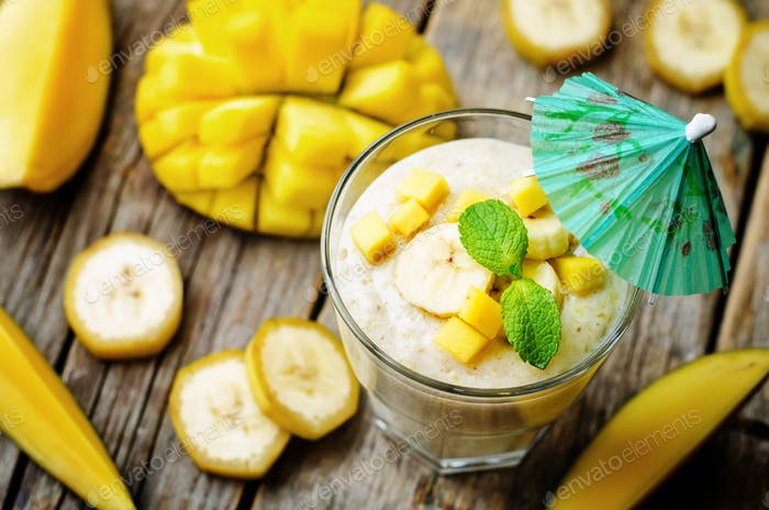 Bananenmango-Smoothie