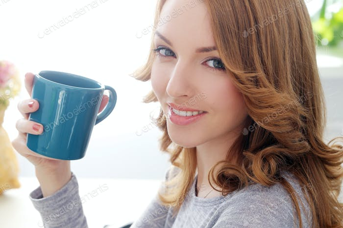 Happy woman with beautiful smile