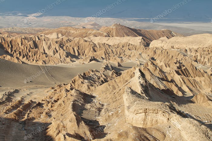 Desert landscape of Valley of Mars