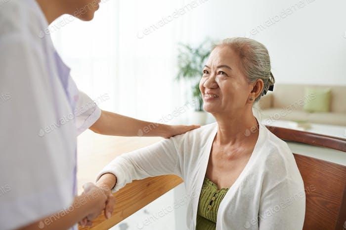 Thankful patient