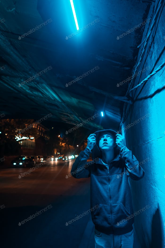 Man under the bridge