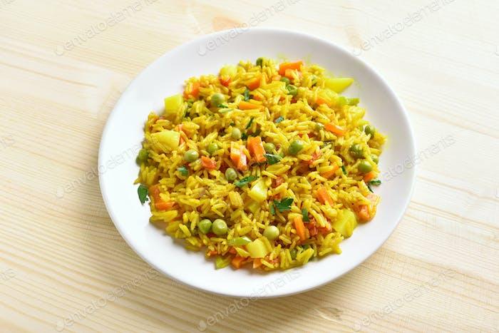Healthy vegetarian pilaf