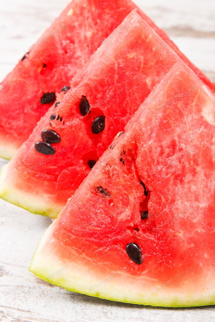 Fresh natural watermelon as source vitamins and minerals, concept of healthy juicy dessert