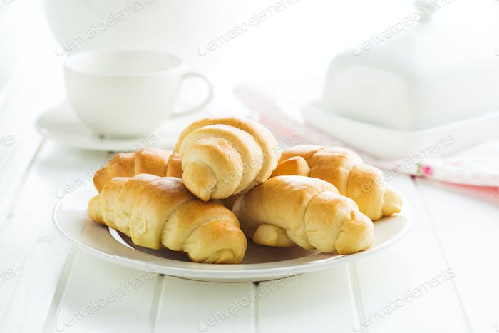 Sweet tasty croissants.