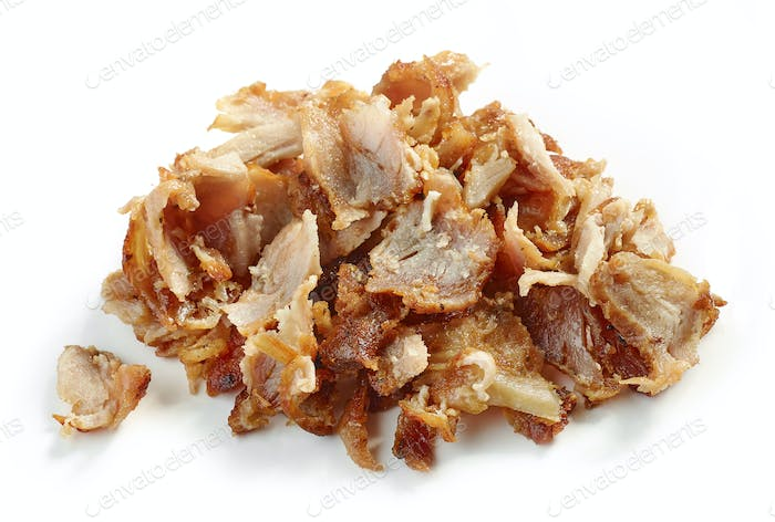 heap of fried chicken meat