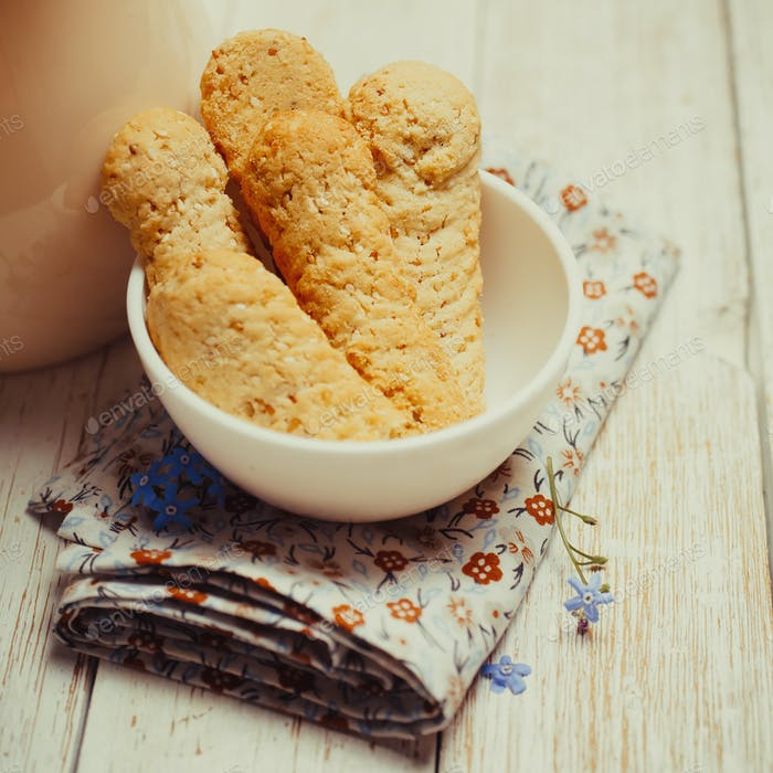 Cookies with Sesame Seeds