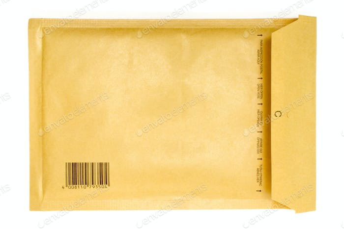 Brownish Envelope Isolated on a White Background