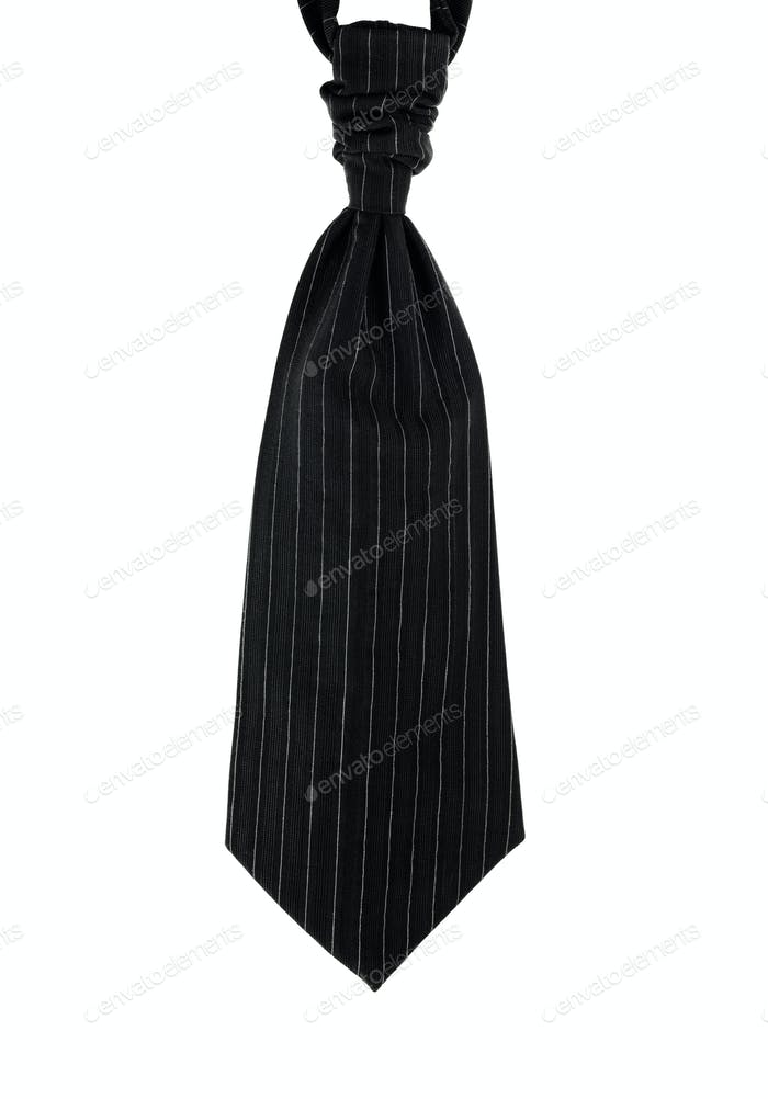 Wedding tie for men. Pinstripe, black isolated on white