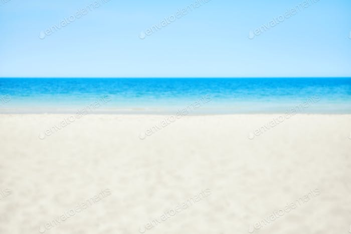 Blurred picture of a beach, nature background
