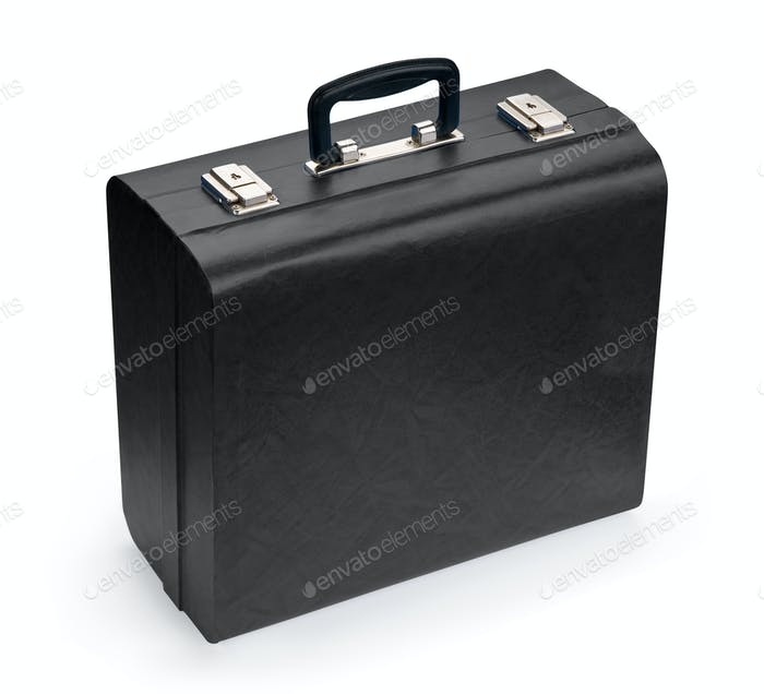 Black suitcase, isolated on white background