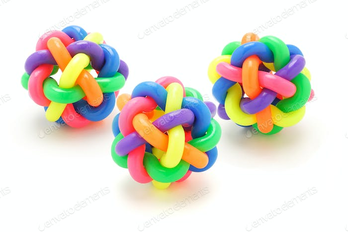 Colorful rubber rings balls