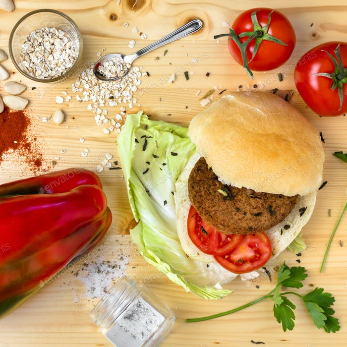Veggie homemade burger