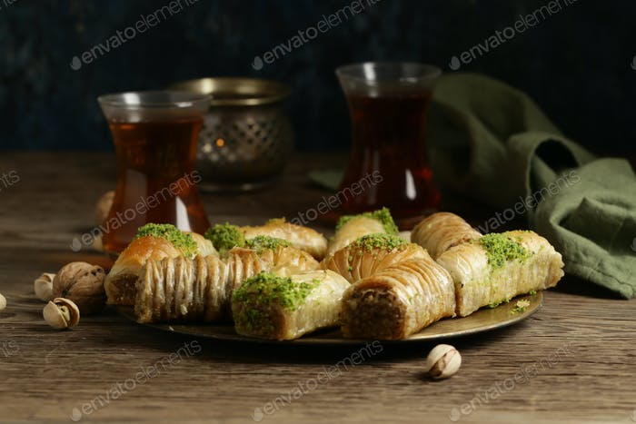 Orientalische Süßigkeiten Baklava