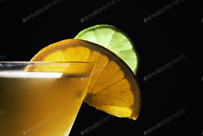 Garnish on a Mixed Drink