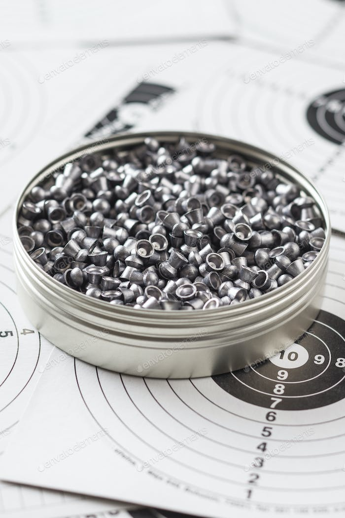 Lead airgun pellets.