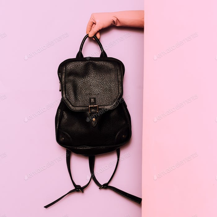 Stylish clothes. Fashion accessory. Backpack. wardrobe ideas tre