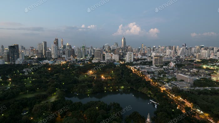 Bangkok city in the evening