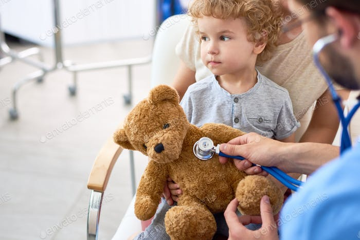 Little Boy Visiting Doctor