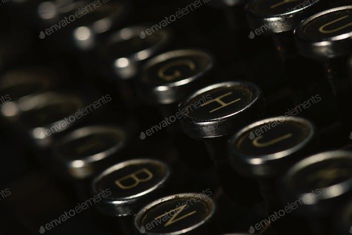 Detail of antique typewriter
